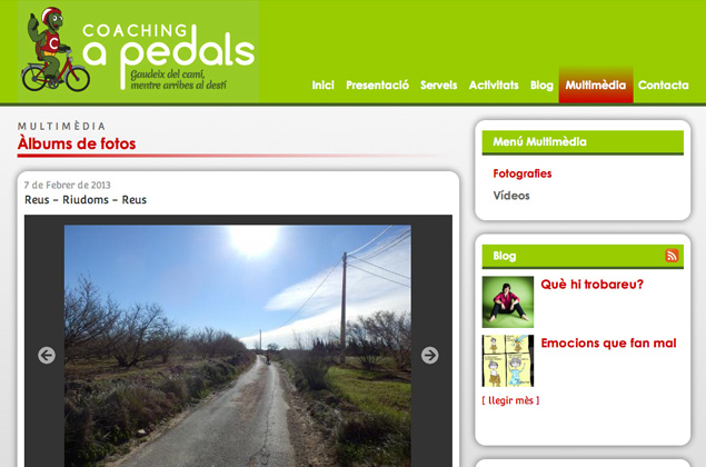 Web de Coaching a Pedals